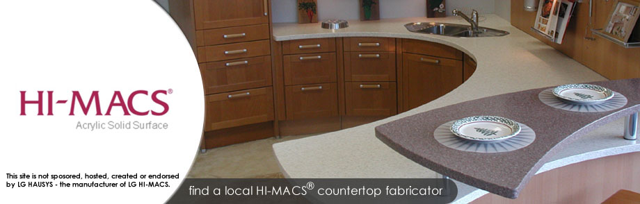 hi macs countertopscom is dedicated to bringing consumers and local countertop fabricators together